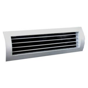 Grila aluminiu anodizat pentru tubulatura circulara 300 x 125 mm T1P-SR cu simpla deflexie pentru sisteme de ventilatie si climatizare Hoteluri Restaurante Cafenele Cluburi Birouri