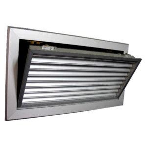 Grila aluminiu anodizat 1000 x 100 mm TEP-E cu simpla deflexie ventilatie si climatizare Hotel Restaurant Cafenea Club Birou
