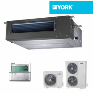 Aer Conditionat 12000 BTU York Inverter YEKE12BXEEBM-WX/YUKE12BYEEBMO-X tip duct pentru Hotel Restaurant Cafenea Club Birou