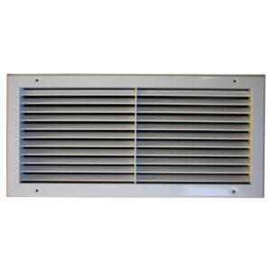 Grila aluminiu anodizat cu simpla deflexie 1000 x 350 mm TEP pentru sisteme de ventilatie si climatizare Hoteluri Restaurante Cafenele Cluburi Birouri