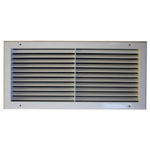 Grila aluminiu anodizat 1000 x 125 mm TEP-D cu simpla deflexie si damper ventilatie si climatizare Hotel Restaurant Cafenea Club Birou